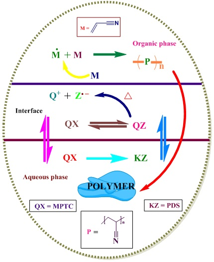 Synergetic effect of multi-site phase transfer catalysis system mediated free radical polymerization of acrylonitrile – a kinetic study
